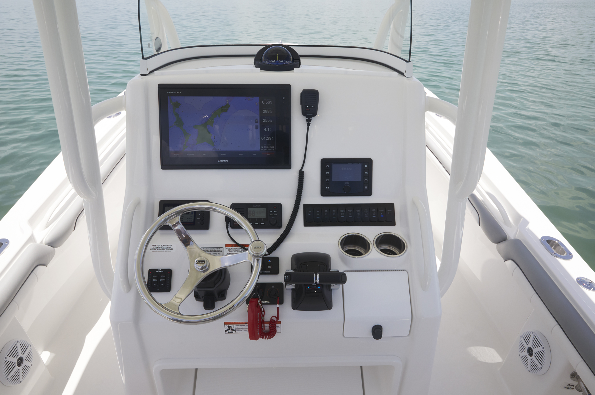 Regulator 23 Marine Boats Center Console Wiring Diagram Helm With Garmin Electronics