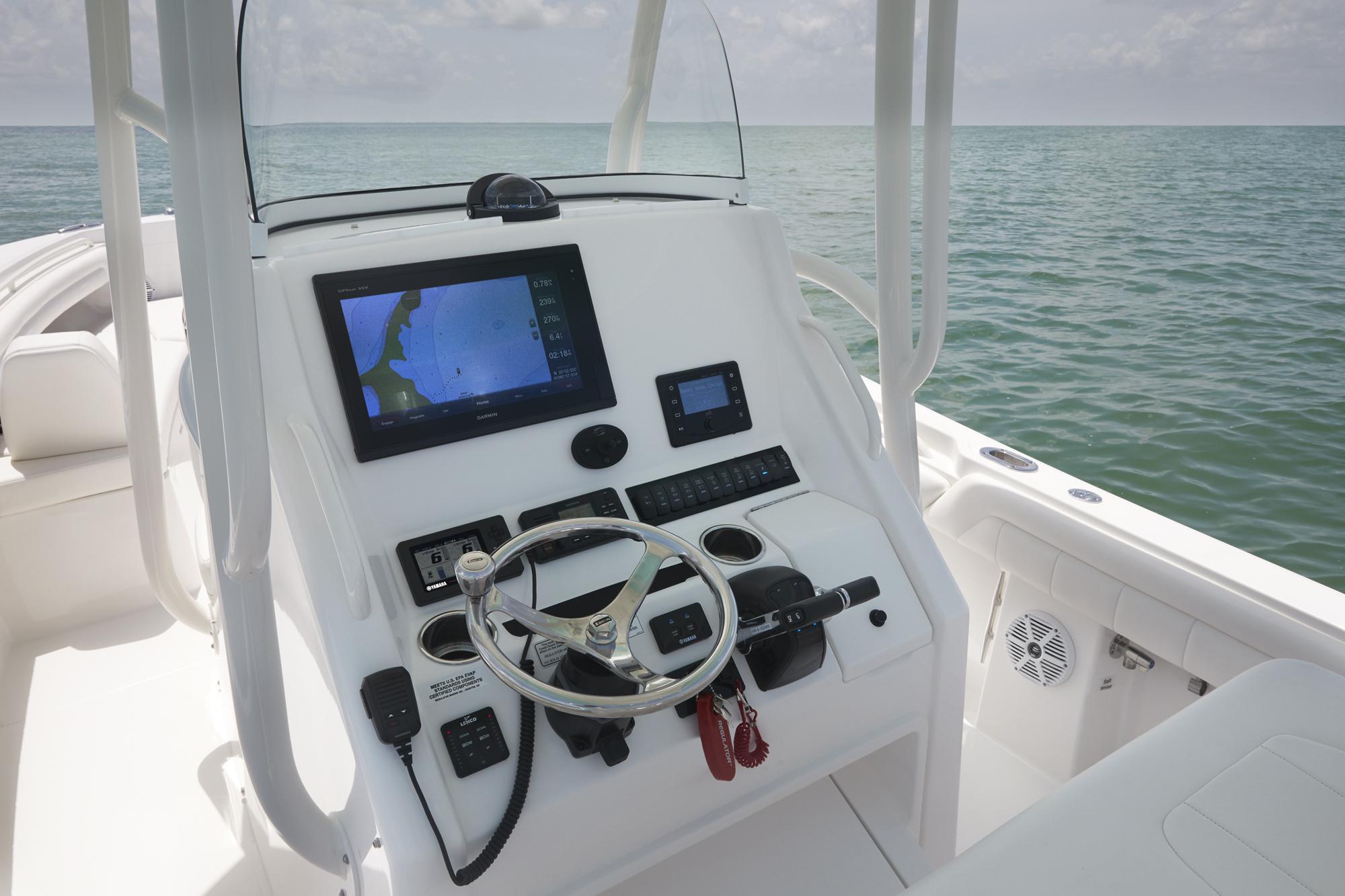 Regulator Center Console Boat Helm Garmin Electronics on Boat Power Steering Pump